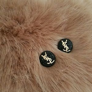 Yes button earrings